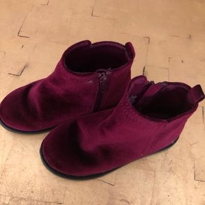 Suede cranberry ankle boots
